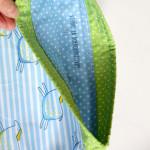 stahovací pytlík Hopsa Hejsa modrý 17x 34 cm