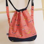 backpack Hopsa Hejsa červený s modrým punťou