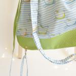 backpack Hopsa Hejsa modrý se zeleným  punťou