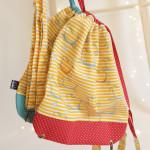 backpack Hopsa Hejsa žlutý s červeným punťou