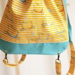 backpack Hopsa Hejsa žlutý s modrým punťou