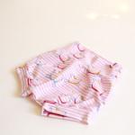 bombarďáčky Hopsa Hejsa růžový proužek 12-18 měsíců