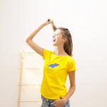 dámské tričko tmavě modrý pašík na slunkovém krátký rukáv S