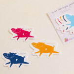 dárkové cedulky 7 šťastných pašíků vyřezávané tvary
