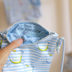 dětská kabelka Hopsa Hejsa modrá 16 x 17 cm