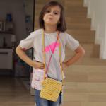 dětská kabelka Hopsa Hejsa žlutá 14 x 14 cm