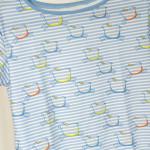 tričko Hopsa Hejsa modré krátký rukáv  S