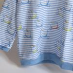 tričko Hopsa Hejsa modré dlouhý rukáv 3-4 roky