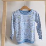 tričko Hopsa Hejsa modré dlouhý rukáv 4-5 let