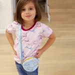 tričko Hopsa Hejsa modré krátký rukáv 3-4 roky