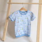 tričko Hopsa Hejsa modré krátký rukáv 4-5 let