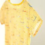 tričko Hopsa Hejsa žluté krátký rukáv S
