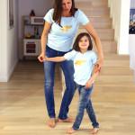tričko neonkově růžový šťastný pašík na béžové krátký rukáv 4-5 let