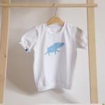 tričko světle modrý šťastný pašík na bílém krátký rukáv 2-3 roky