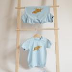 tričko zlatý pašík na modré krátký rukáv 2-3 roky