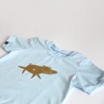tričko zlatý pašík na modré krátký rukáv 3-4 roky