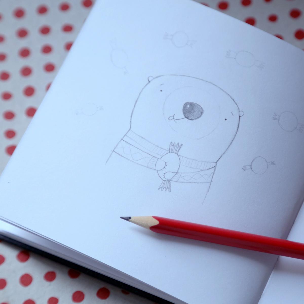 allydesgin medvídek ilustrace