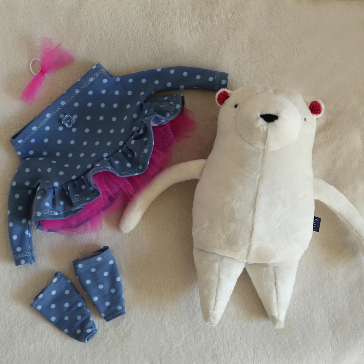 Allydsign originální hračka medvídek baletka
