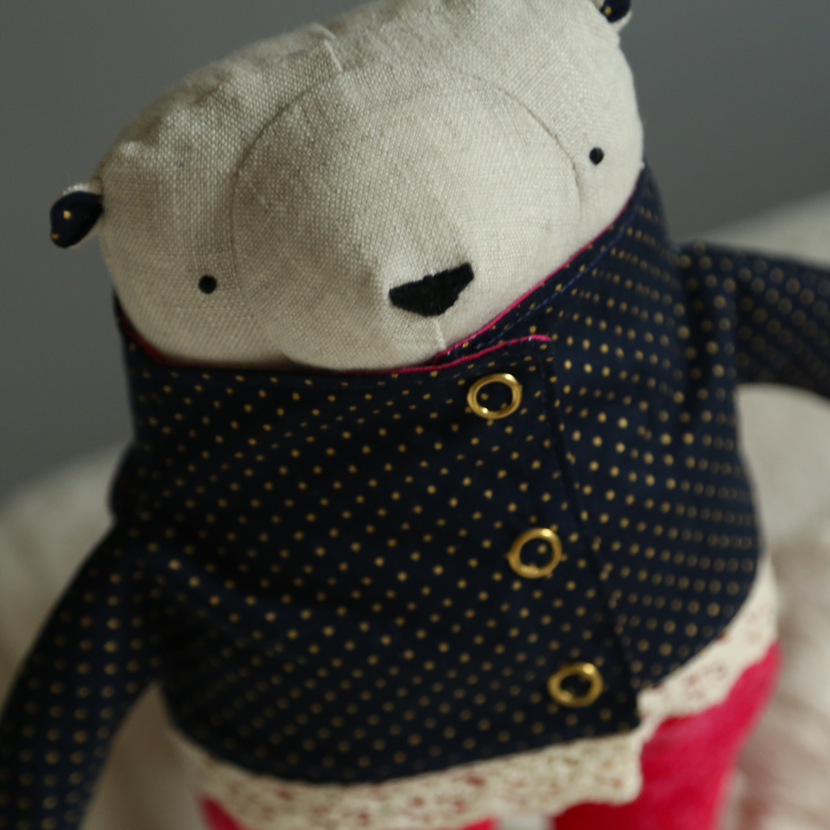 allydesign hračka medvídek jahody