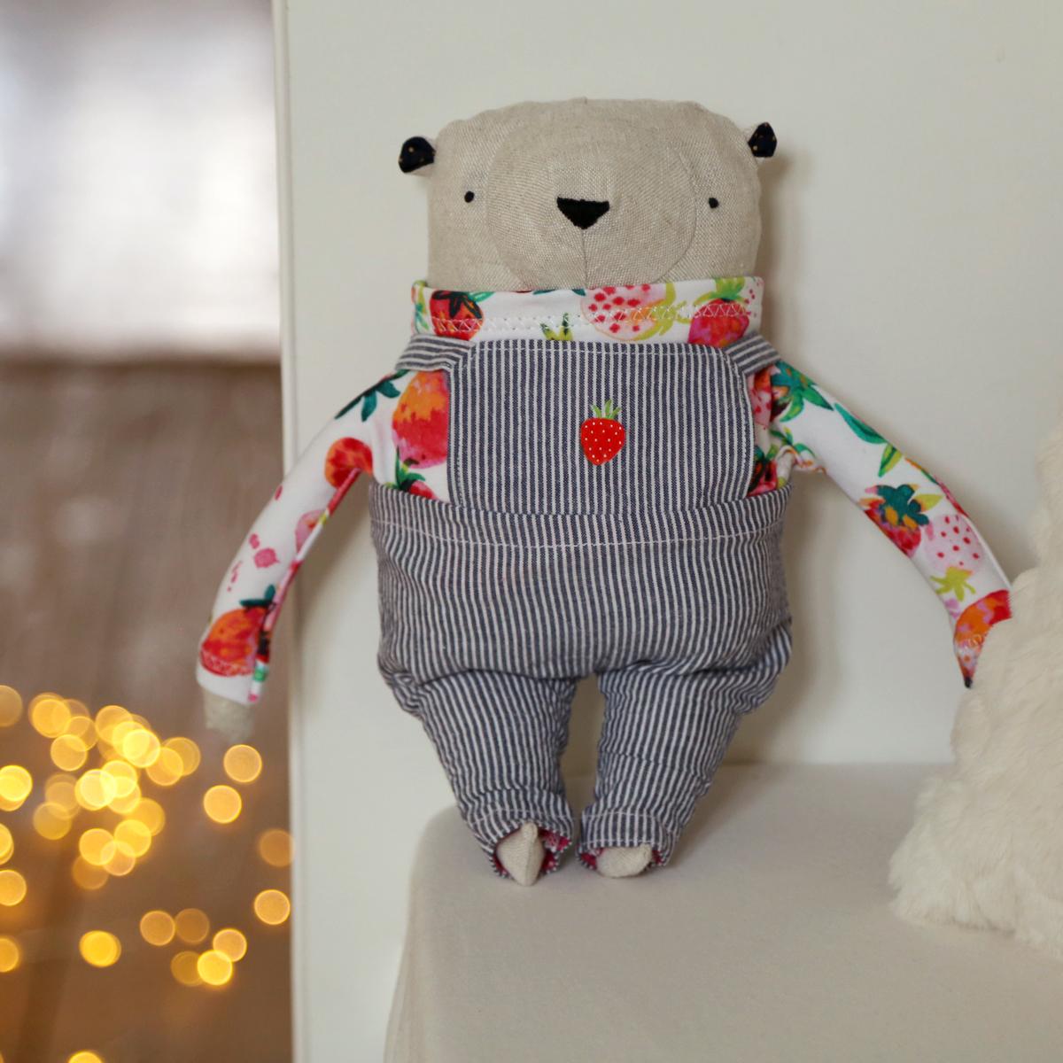 allydesign hračka medvídek jahoda originální